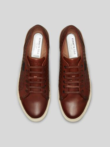 Bring About Leather Sneaker, COGNAC