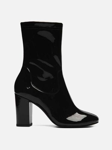 Alyssa Patent Leather Boot, BLACK