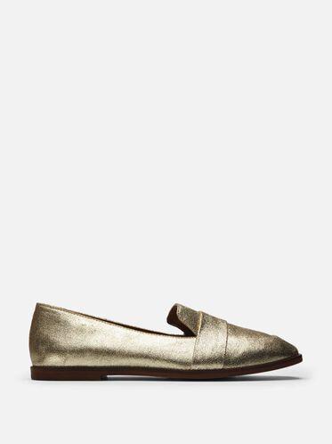 Glide Slide Leather Loafer, SOFT GOLD