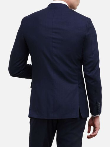Slim-Fit Notch-Lapel Suit Jacket, 413NAVY