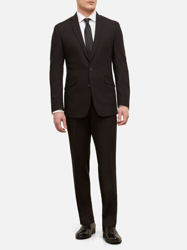 Slim-Fit Two-Piece Nested Suit, 001BLACK, hi-res