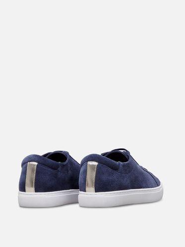 Womens Kam Suede Sneaker, NAVY