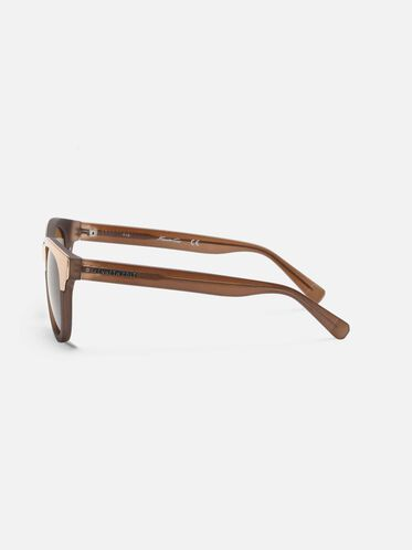 Matte Milky Taupe Oversized Sunglasses, BEIGO/BRN