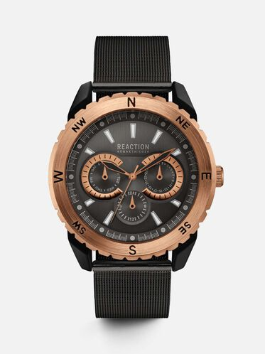 Multi-Functional Black Mesh Watch, NO COLOR