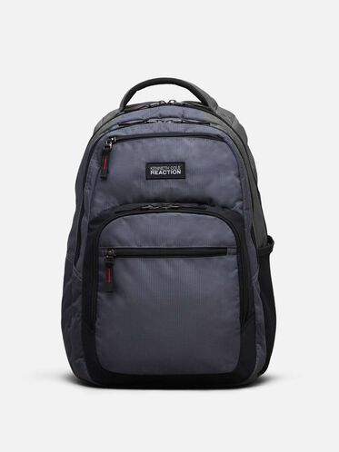 Double Gusset Computer Backpack, CHARCOAL