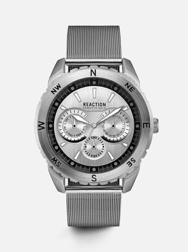 Multi-Functional Stainless Steel Mesh Watch, NO COLOR
