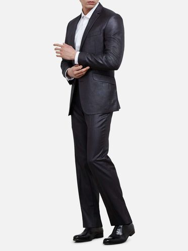 Slim-Fit Basketweave Two-Piece Nested Suit, 041GREY, hi-res