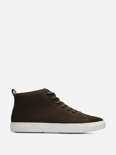 High Top Knit Sneaker, OLIVE