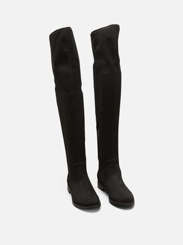 Wind Free Over The Knee Boot, BLACK, hi-res