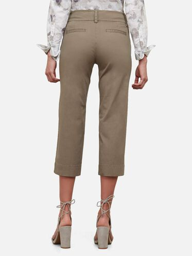 Wide Leg Twill Pant, ARMY