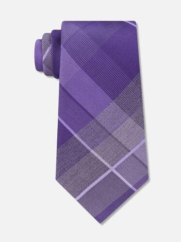 Symphony Plaid Tie, PURPLE
