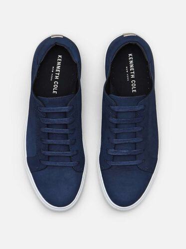 Kam Leather Sneaker, NAVY, hi-res