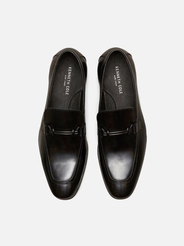 Spare Time Leather Loafer, BLACK