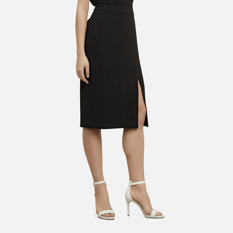 kenneth cole new york female 188971 kenneth cole new york crepe woven skirt womens black