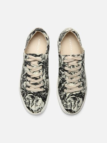 Abbey Printed Platform Sneaker, WHITE FLORAL