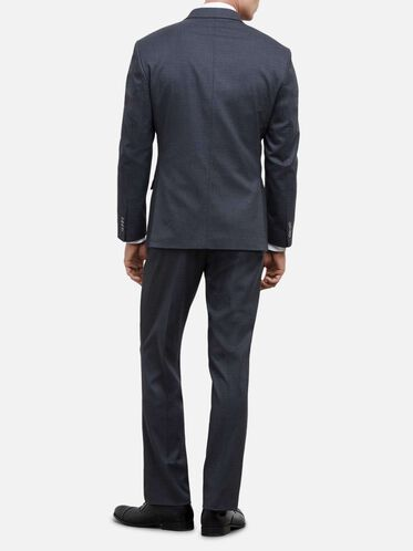 Techni-Cole Flex Box Check Nested Suit, 035MED GRE