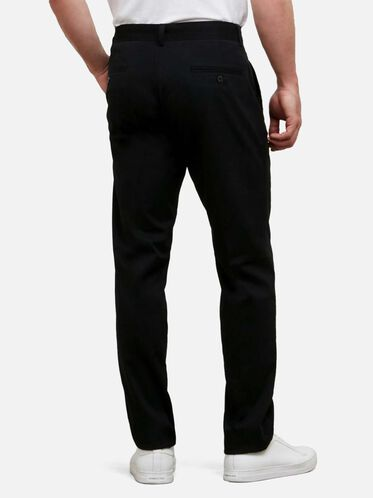 Slim-Fit Sustainable Chino Pant , BLACK