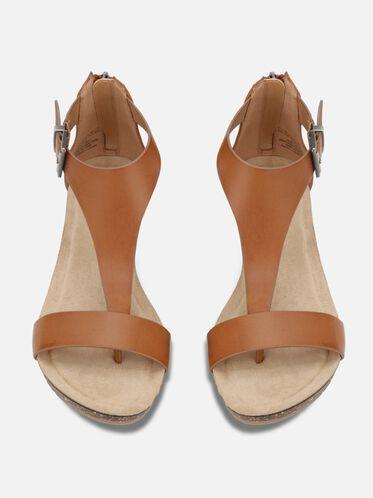 Great Gal Metalic T-Strap Wedge Sandal, TOFFEE, hi-res