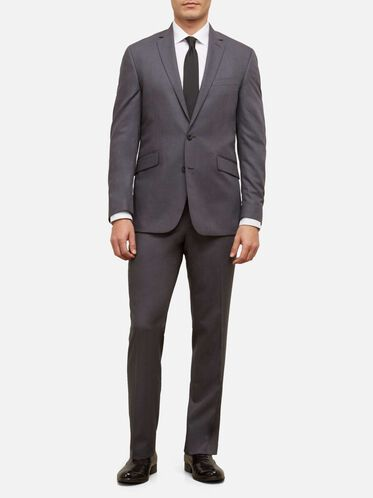 Slim-Fit Nested Suit with Finished Hem, 030GREY