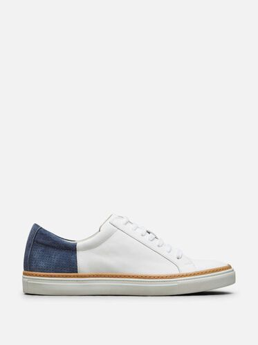 Premiere Show Leather Sneaker, WHITE/NAVY