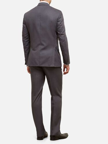 Slim-Fit Nested Suit with Unfinished Hem, 030GREY