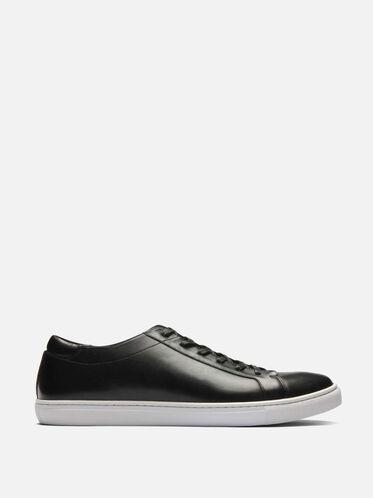Mens Kam Leather Sneaker, BLACK