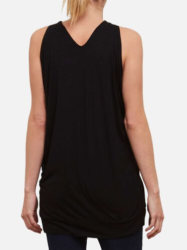 Cascade Sleeve Tunic, BLACK