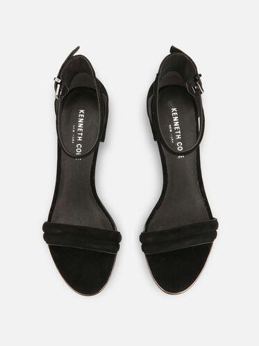 Lex Open-Toe Heel, BLACK