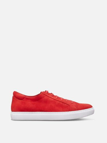 Womens Kam Suede Sneaker, RED