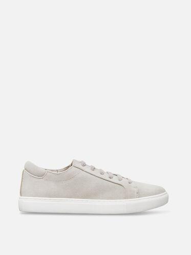 Womens Kam Suede Sneaker, LIGHT GREY