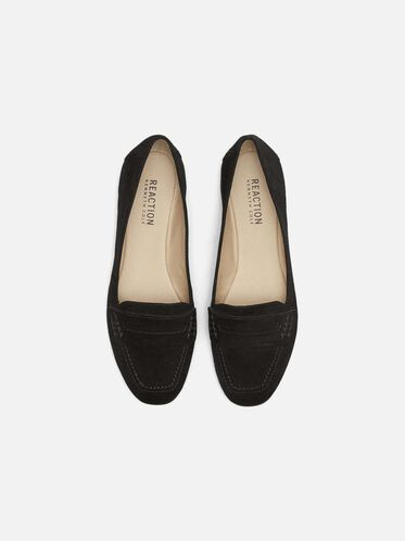 Sweet Trick Suede Flats, BLACK