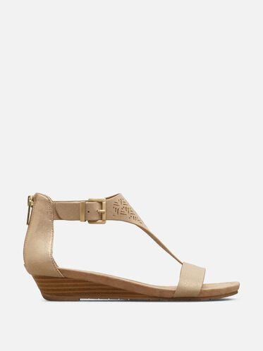 Great Gal Laser-Cut Sandal, SOFT GOLD