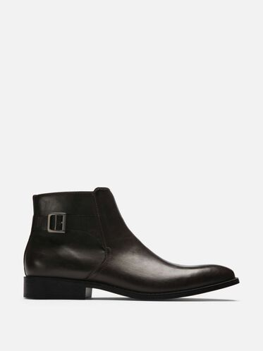 Chelsea Buckle Boot, BROWN