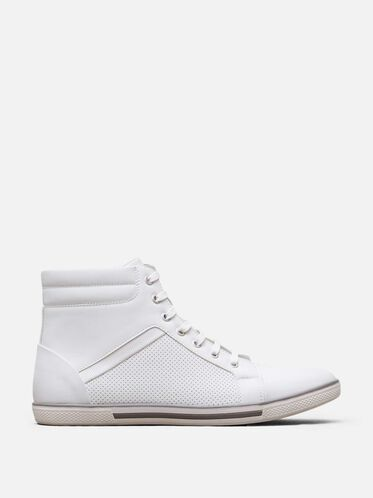 Crown Worthy High-Top Sneaker, WHITE