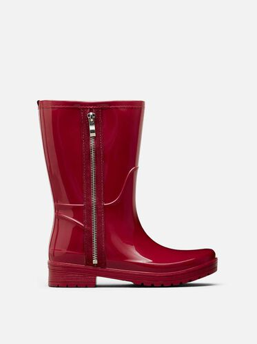 Zip Rain Boot, CHERRY RED