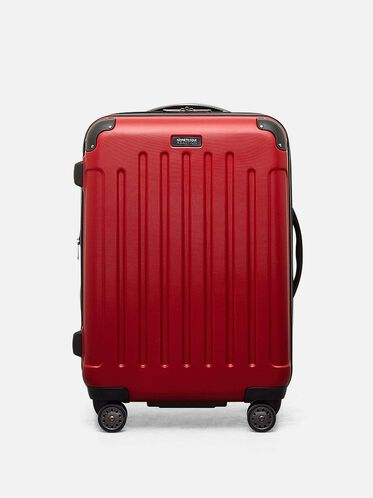 Renegade 24 Inch Expandable Upright Suitcase, RED