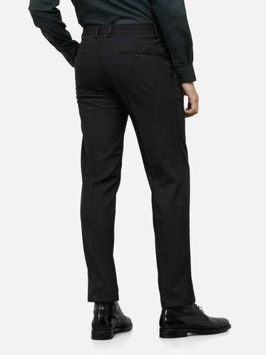 Single Pleat Straight-Fit Pant, BLACK