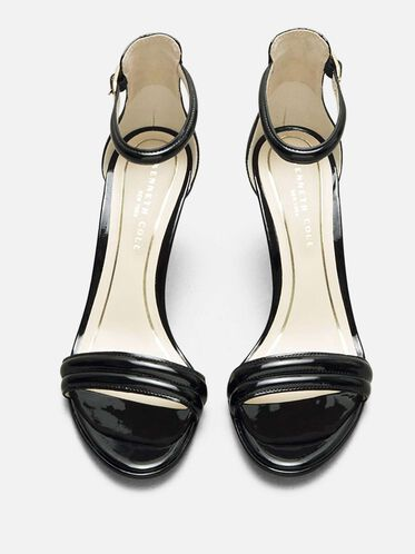 Open-Toe Heel, BLACK