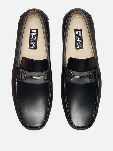 Sound Proof Leather Loafer, BLACK