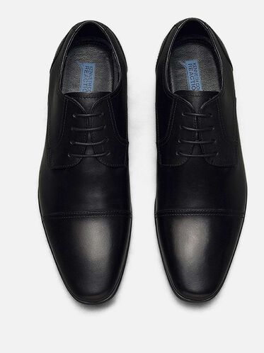 Deter-Min-Ed Leather Cap-Toe Oxford, BLACK