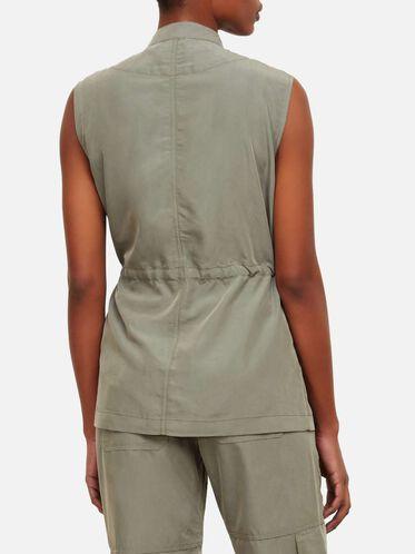 Drawstring Utility Vest, ARMY