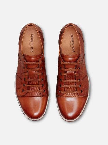 Brand Wagon Leather Sneaker, COGNAC