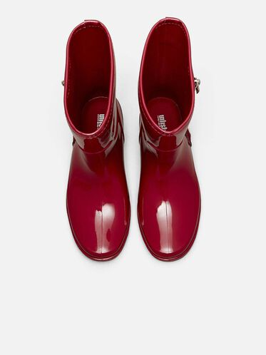 Zip Rain Boots, CHERRY RED