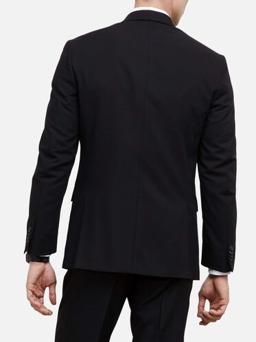 Slim-Fit Notch-Lapel Suit Jacket, BLACK