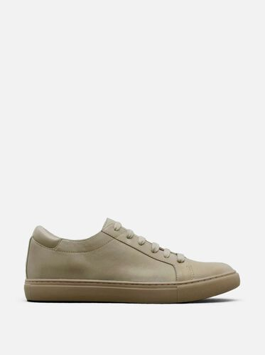 Womens Kam Leather Sneaker, NUDE