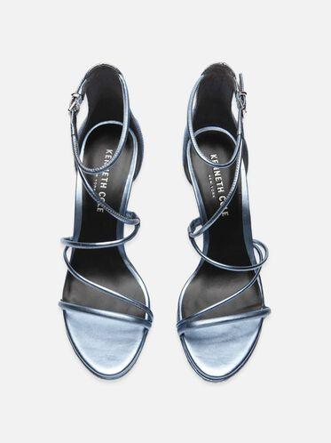 Bryanna Metallic Leather Strappy Heel, LIGHT BLUE