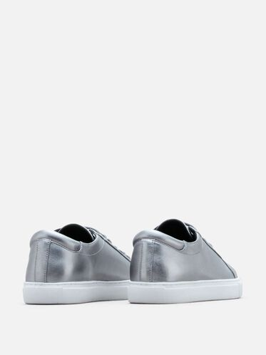 Kam Leather Sneaker, PEWTER, hi-res