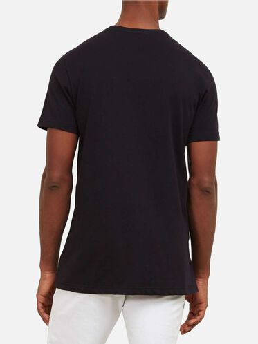 Solid Crew Neck T-Shirt, BLACK