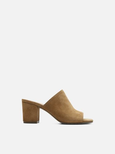Mass-ter Mind Suede Open Toe Mule, UMBER