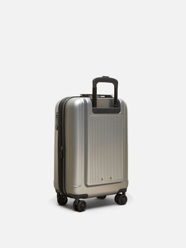 20 Inch Rush Hour 8-Wheel Carry-On Suitcase, SILVER
